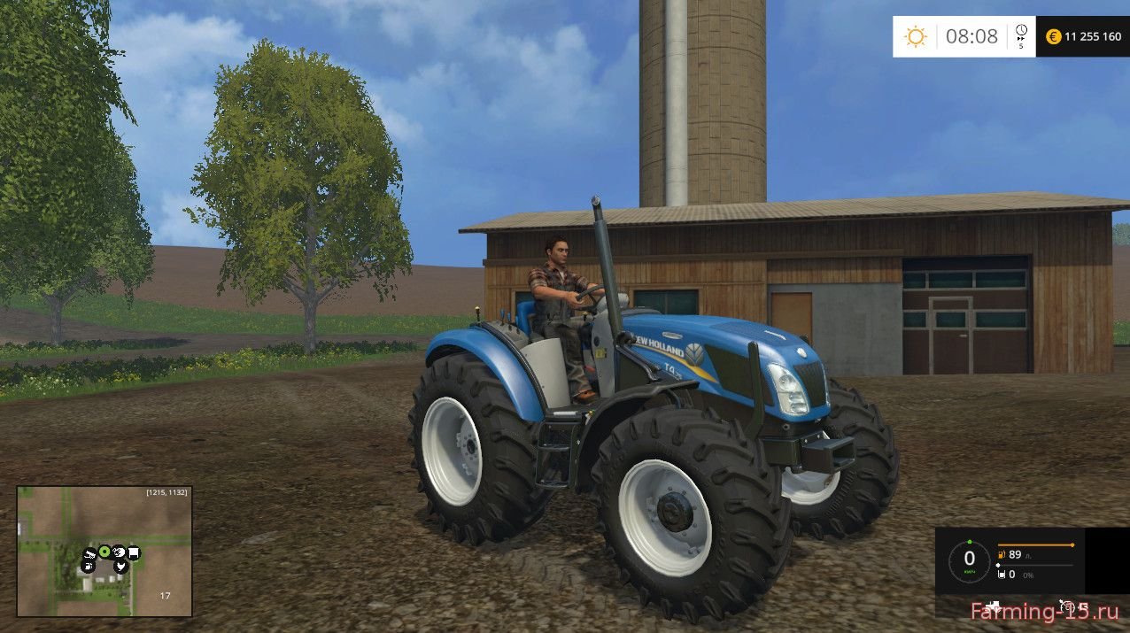 Тракторы для Мод трактор NewHolland T4 No Roof для Farming Simulator 2015