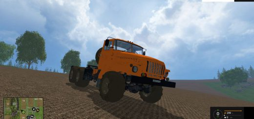 Русская техника для Мод грузовик Урал 4320 6х6 Полярник для Farming Simulator 2015