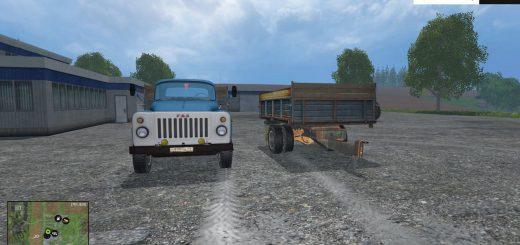 Русская техника для Мод грузовик ГАЗ-53 и прицеп для Farming Simulator 2015
