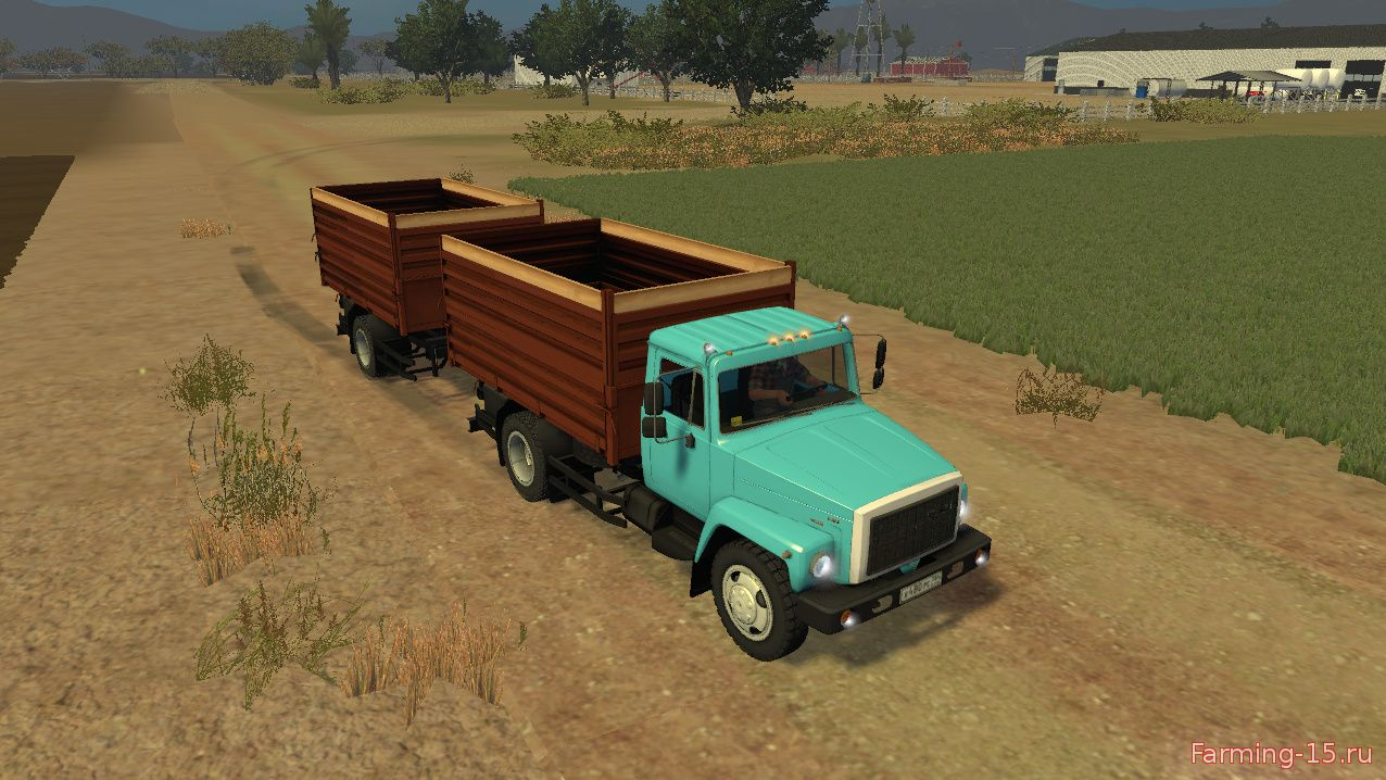 Русская техника для Мод грузовик ГАЗ-САЗ-35071 и прицеп САЗ-83173 для Farming Simulator 2015