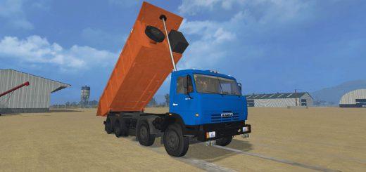 Русская техника для Мод грузовик КамАЗ 6540 v1 для Farming Simulator 2015