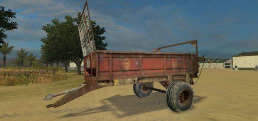 Техника для удобрений для Мод разбрасыватель навоза - РОУ 4 для Farming Simulator 2015
