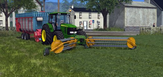 С/Х инвентарь для Мод валкоукладчик Elho Twin 600 для Farming Simulator 2015