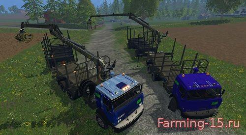 Русская техника для Мод-пак грузовиков для перевозки леса для Farming Simulator 2015
