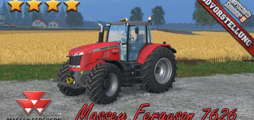 Тракторы для Мод трактор Massey Ferguson 7626 v1.8 для Farming Simulator 2015