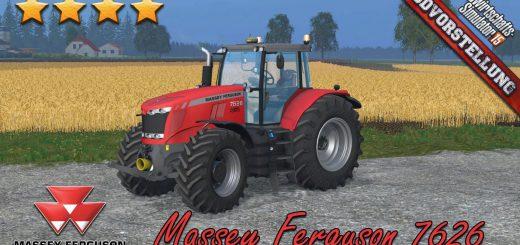 Тракторы для Мод трактор Massey Ferguson 7626 v1.8 для Farming Simulator 2015