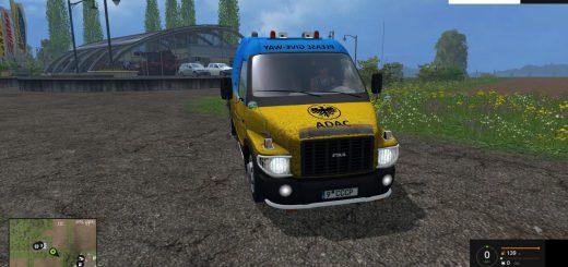 Русская техника для Мод грузовик с прицепом ГАЗ Ermak v1.0 для Farming Simulator 2015