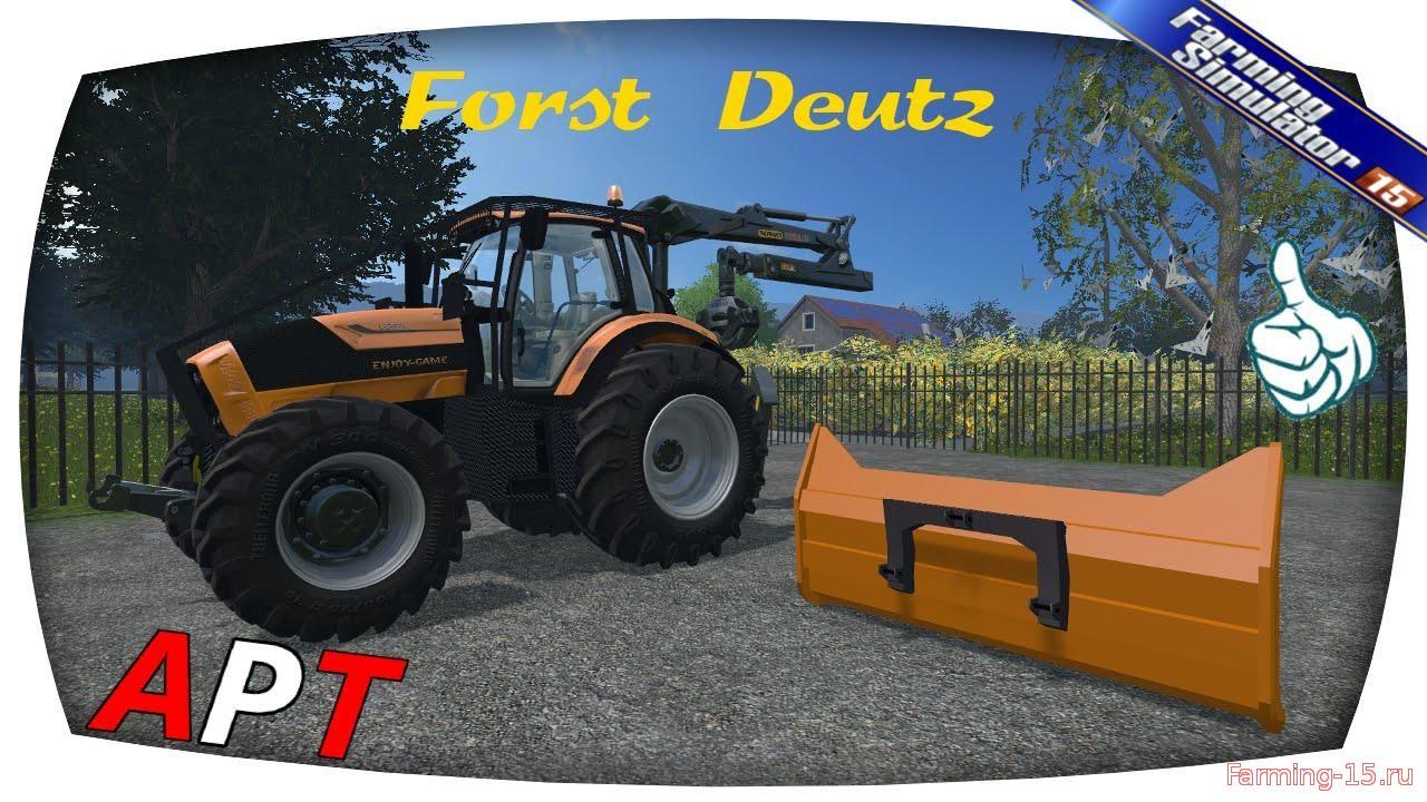 Тракторы для Мод трактор с погрузчиком Forestry Deutz v1.2 для Farming Simulator 2015