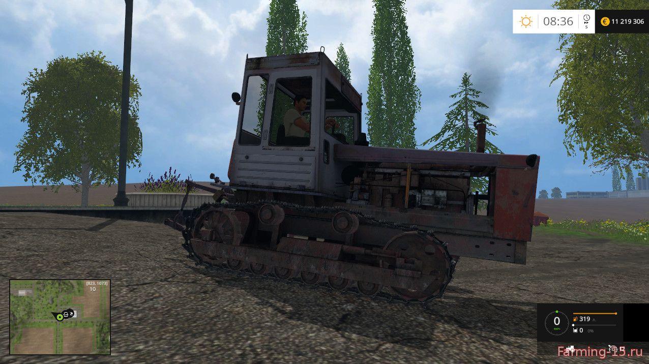 Русская техника для Мод гусеничный трактор T 4A01 для Farming Simulator 2015