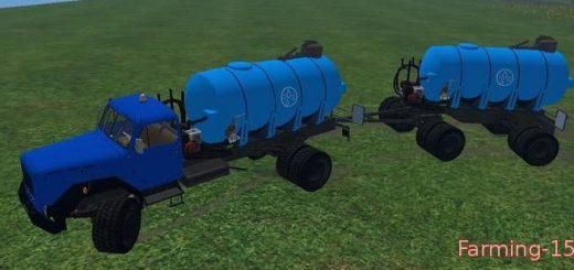 Цистерны для Мод грузовик с цистерной Magirus Wasser для Farming Simulator 2015
