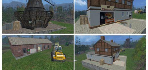 Объекты для карт для Мод-пак объектов «склад и мельница» для Farming Simulator 2015