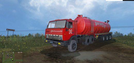 Русская техника для Мод грузовик КамАЗ-5410 с цистерной для Farming Simulator 2015