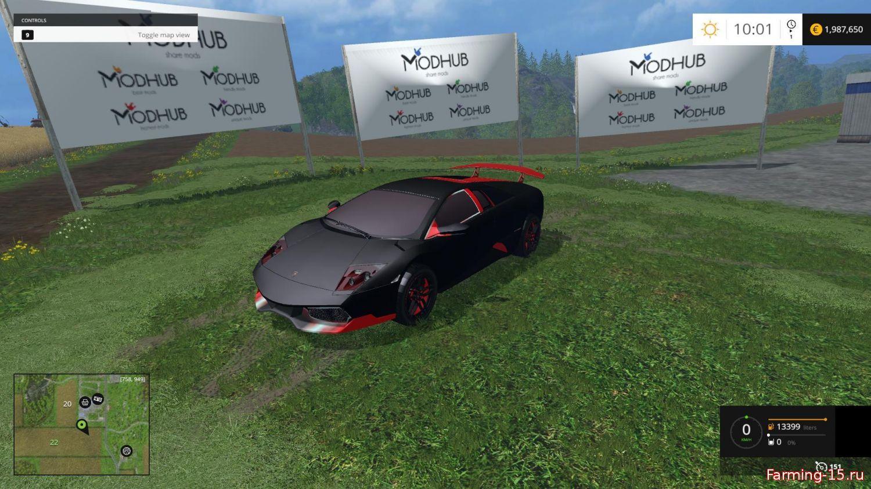 Машины для Мод машина Ламборджини Мурселаго для Farming Simulator 2015