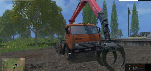 Русская техника для Мод погрузчик КамАЗ-55111 для Farming Simulator 2015
