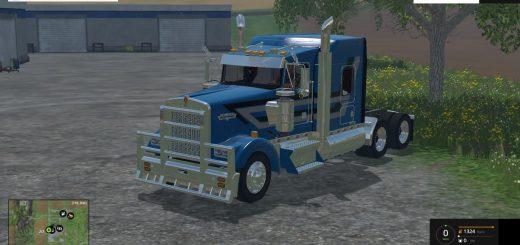 Грузовики для Мод грузовик Kenworth W900L для Farming Simulator 2015