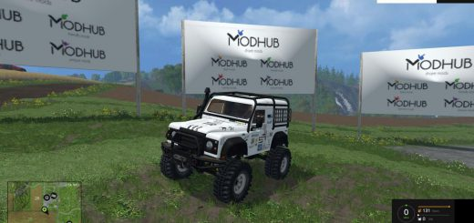 Машины для Мод машина Land Rover Defender для Farming Simulator 2015