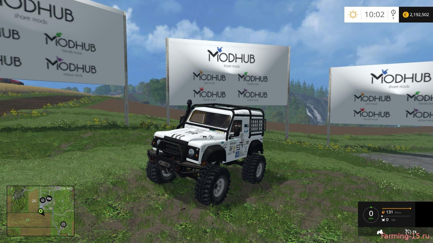 Машины для Мод машина Land Rover Defender для Farming Simulator 2015