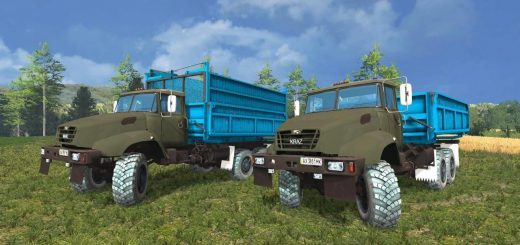 Грузовики для Мод-пак грузовиков КрАЗ 18B V1.0 для Farming Simulator 2015