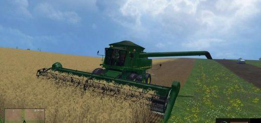 Комбайны для Мод комбайн John Deere 9770 STS для Farming Simulator 2015