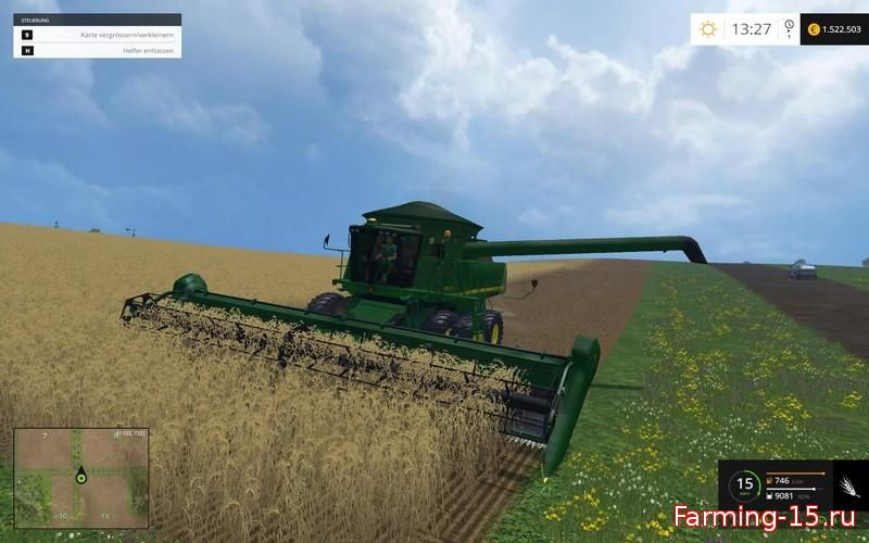 Комбайны для Мод комбайн John Deere 9770 STS для Farming Simulator 2015