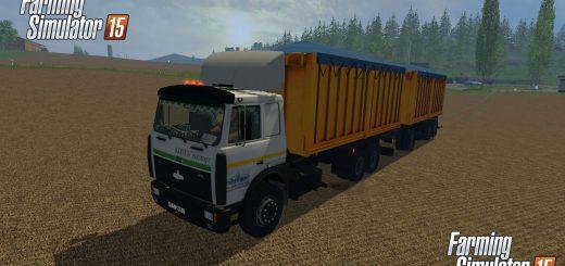 Русская техника для Мод грузовик МАЗ 5516A8-336 и прицеп для Farming Simulator 2015