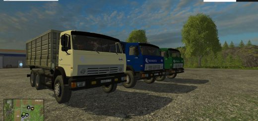 Русская техника для Мод грузовик КамАЗ 45143 v1.2 для Farming Simulator 2015
