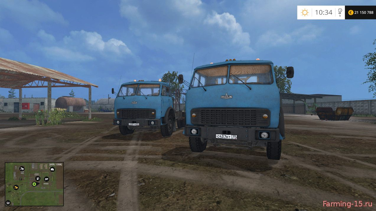 Русская техника для Мод-пак грузовиков Маз-504 для Farming Simulator 2015