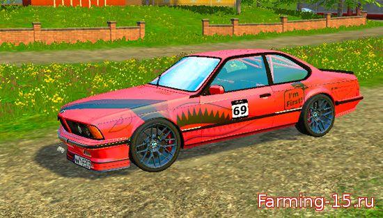Машины для Мод машина BMW E24 M635 CSi для Farming Simulator 2015