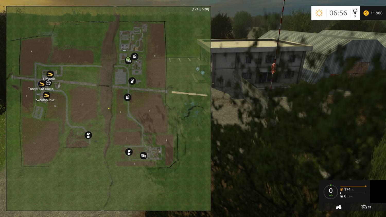 Русские карты для Мод карта Варваровка для Farming Simulator 2015