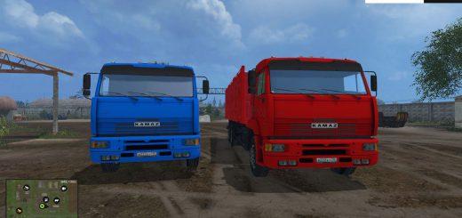 Русская техника для Мод-пак грузовиков КамАЗ и прицепов для Farming Simulator 2015