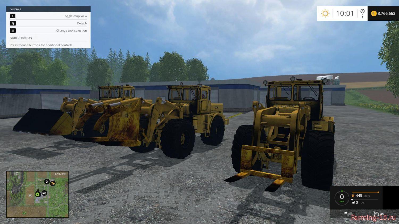 Русская техника для Мод погрузчик Кировец К-701 для Farming Simulator 2015