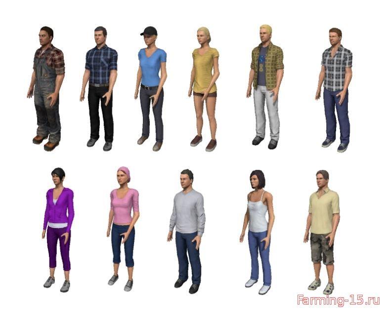 Другие моды для Скрипт Смена персонажа v 0.2.0 для Farming Simulator 2015