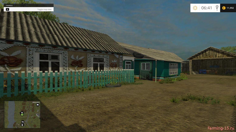 Русские карты для Мод карта Село Курай для Farming Simulator 2015