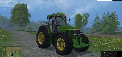 Тракторы для Мод трактор John Deere 7810 v1.1 для Farming Simulator 2015