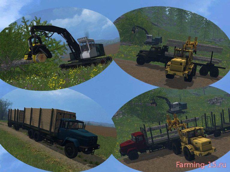 Русская техника для Мод-пак отечественной техники лесозаготовки для Farming Simulator 2015