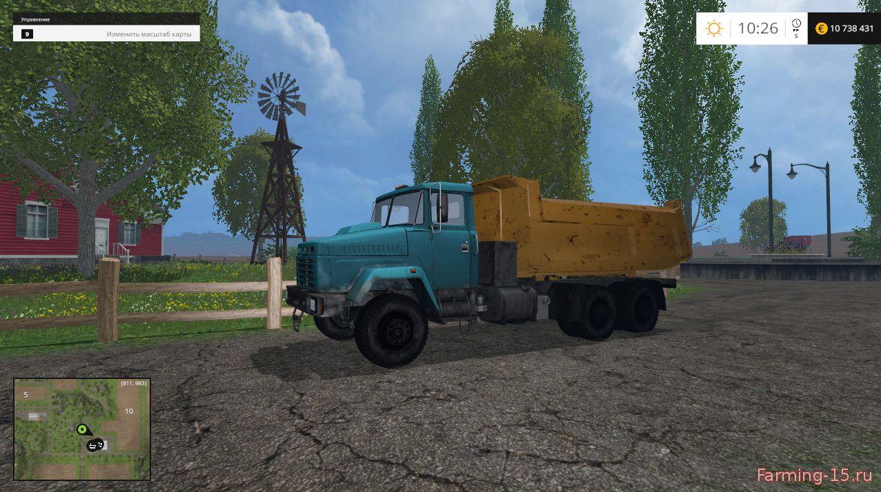 Русская техника для Мод грузовик КрАЗ 6510 для Farming Simulator 2015