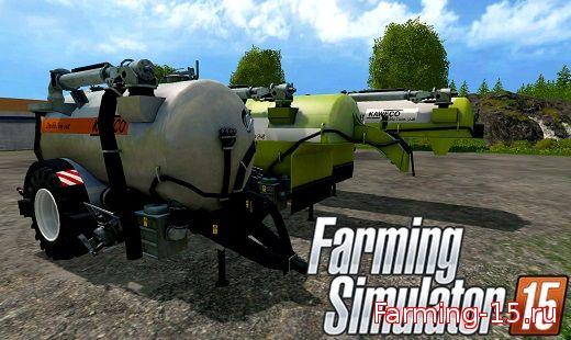 Техника для удобрений для Мод три цистерны для жидкого навоза в Farming Simulator 2015