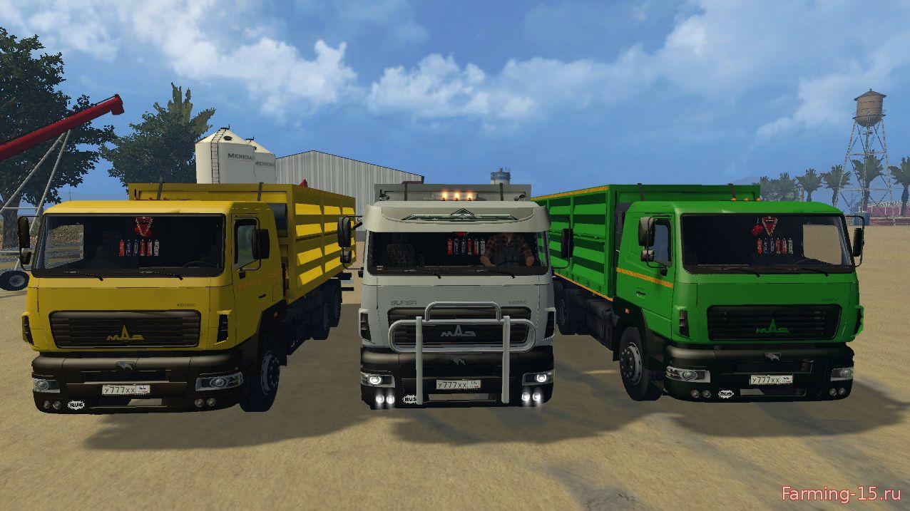 Русская техника для Мод грузовик МАЗ Колос v.1.2 для Farming Simulator 2015