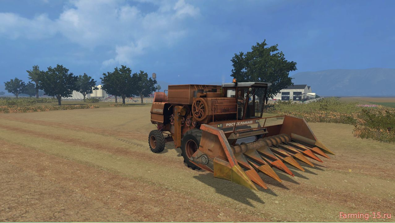 Русская техника для Мод комбайн Дон 1500 А4 ПУН для Farming Simulator 2015