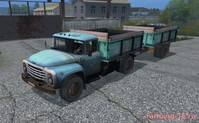 Русская техника для Мод грузовик ЗиЛ-130 и прицеп v1.0 для Farming Simulator 2015