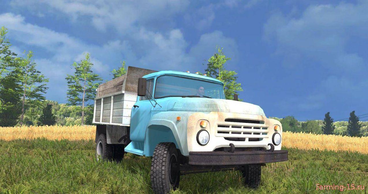Русская техника для Мод грузовик Зил 130 Коротыш v1.0 для Farming Simulator 2015