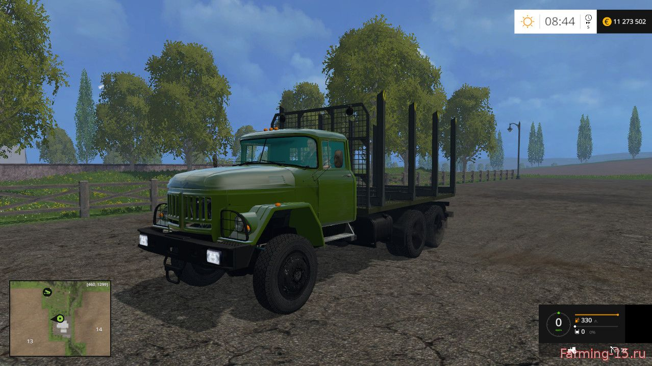 Русская техника для Мод грузовик-лесовоз Зил 133 для Farming Simulator 2015