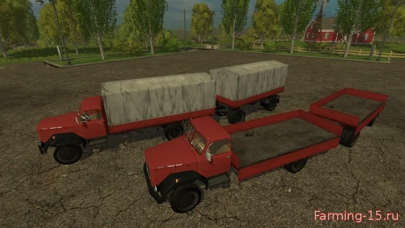 Грузовики для Мод грузовик и прицеп Magirus 200D26AL для Farming Simulator 2015