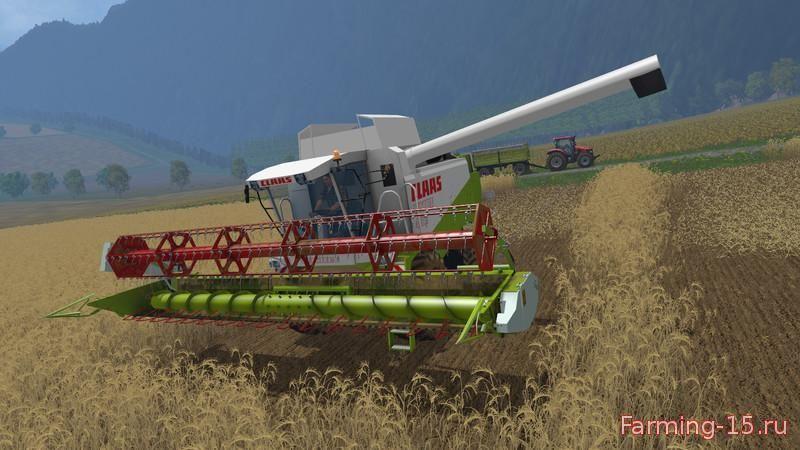 Комбайны для Мод два комбайна Claas для Farming Simulator 2015