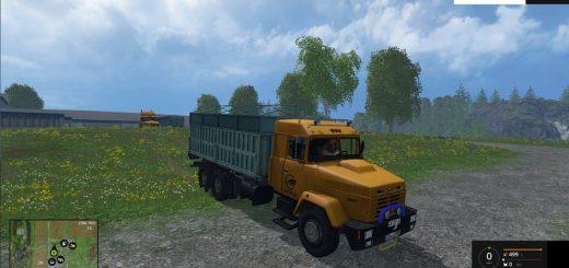 Русская техника для Мод грузовик КрАЗ 65101 и прицеп ГКБ 9350 для Farming Simulator 2015