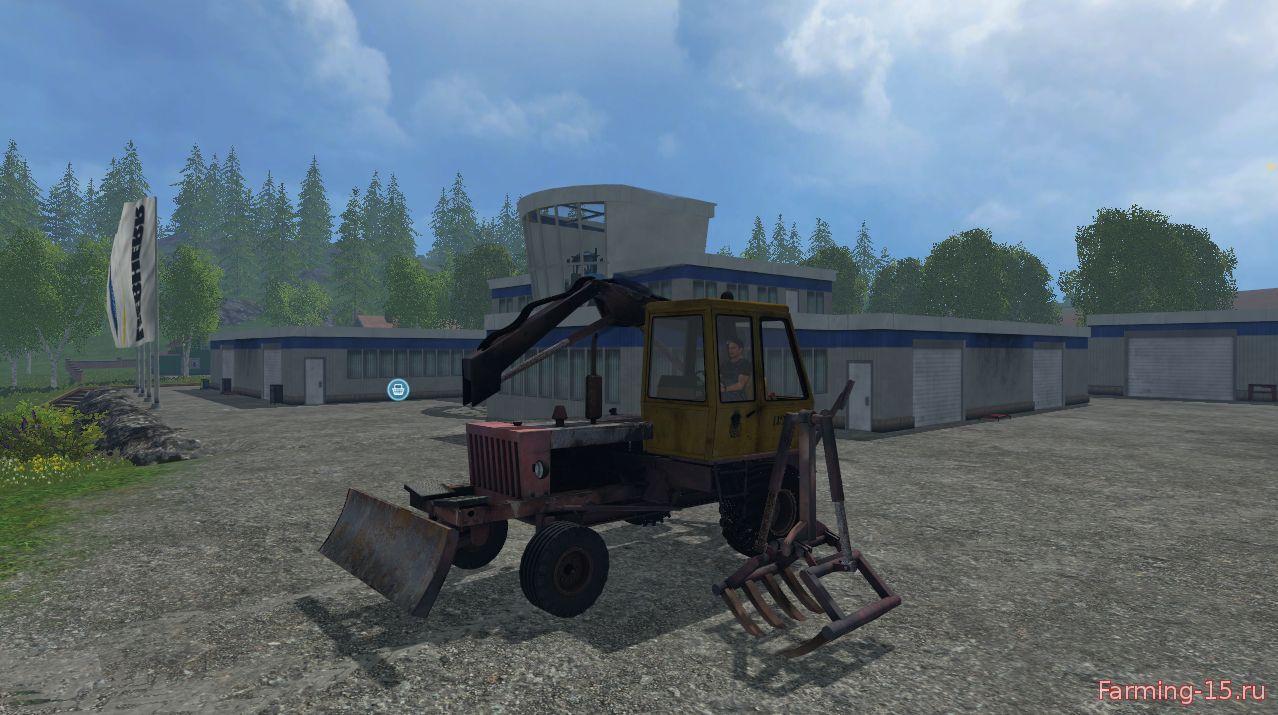 Русская техника для Мод экскаватор-погрузчик Карпатец ПЭА-1А для Farming Simulator 2015
