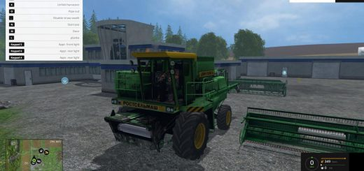 Русская техника для Мод комбайн ДОН 1500Б v2.0 для Farming Simulator 2015