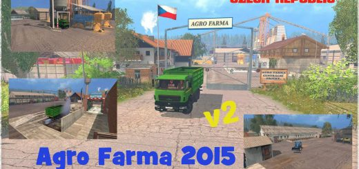 Карты для Карта Agro Farma 2015 CZ v3 для Farming Simulator 2015