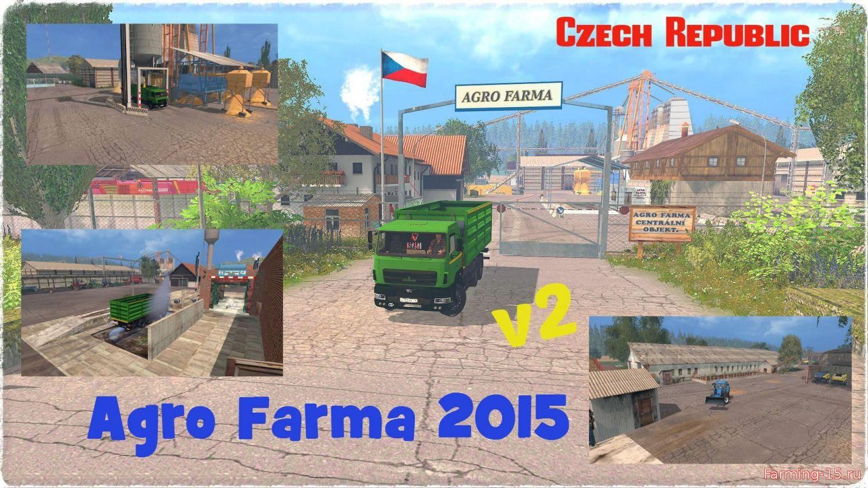 Карты для Карта Agro Farma 2015 CZ v3 для Farming Simulator 2015