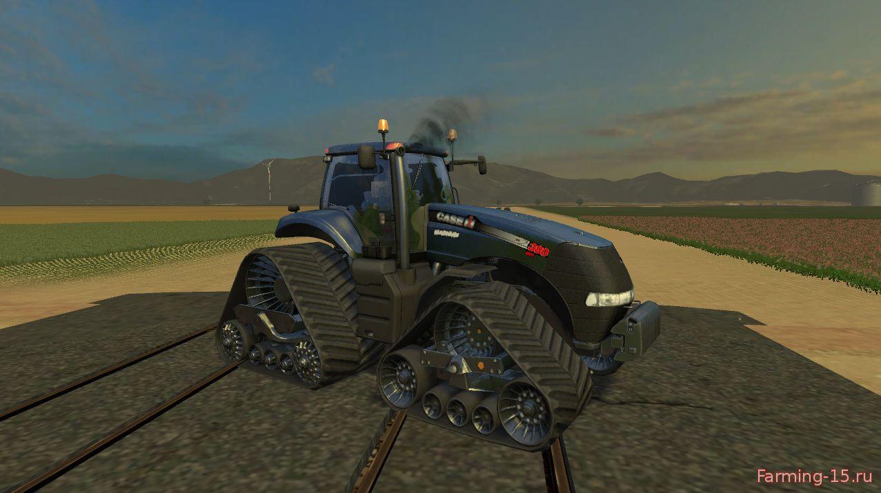 Тракторы для Мод гусеничный трактор Case IH Magnum 380 QuadTrac B v1.4 для Farming Simulator 2015